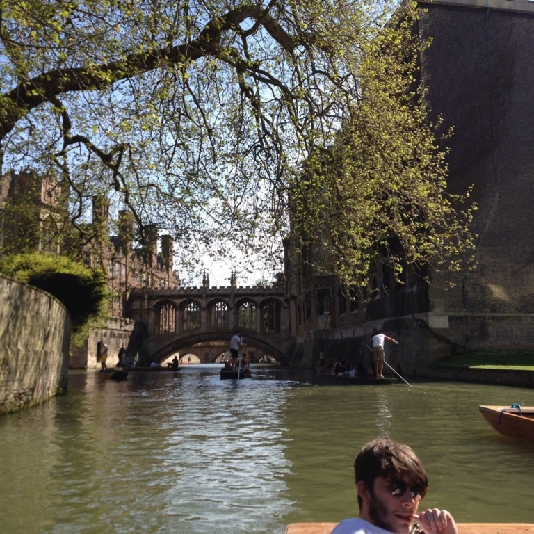 Neil Fetherstonhaugh Punting in Cambridge Hols