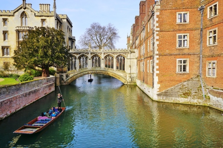 Cambridge, punting on the River Cam